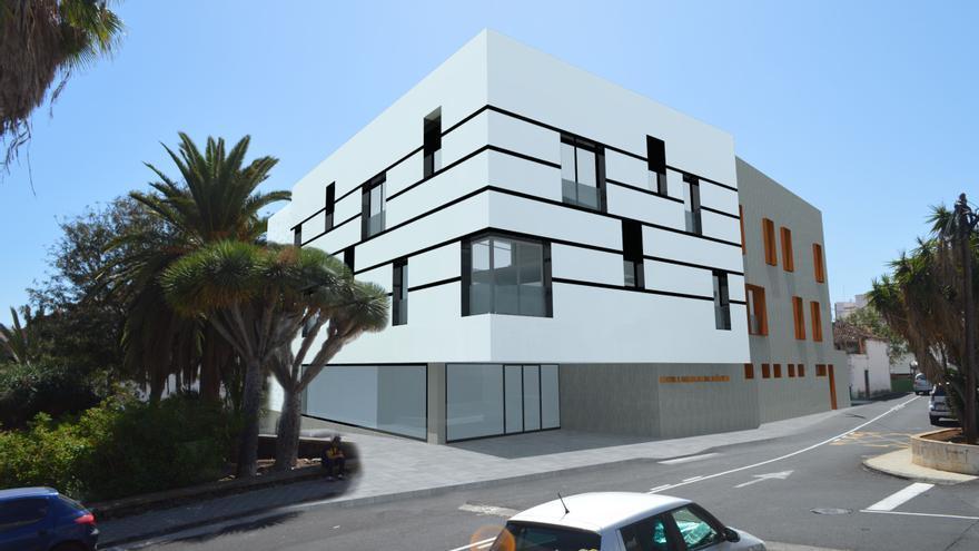 Recreación de la nueva sede de la Escuela Insular de Música.