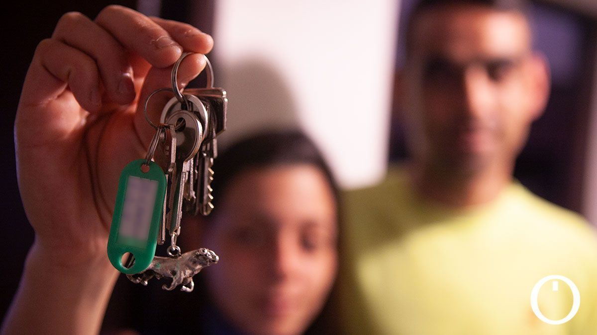 Vecinos de una vivienda de alquiler social.