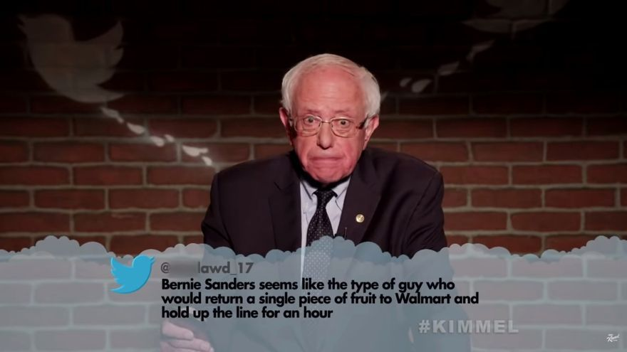 Bernie Sanders en 'Jimmy Kimmel Live'