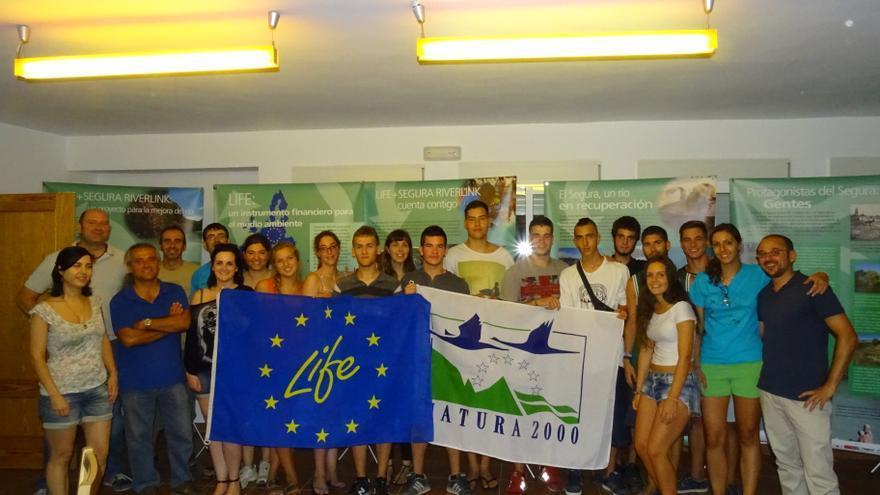 Los voluntarios que colaborarán el proyecto de recuperación ambiental del río Segura