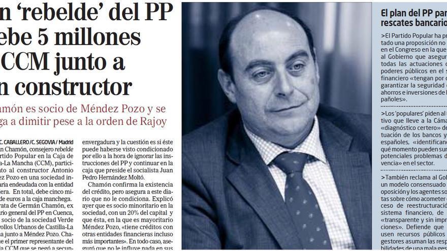 Noticia publicada en El Mundo el 27 de febrero de 2009