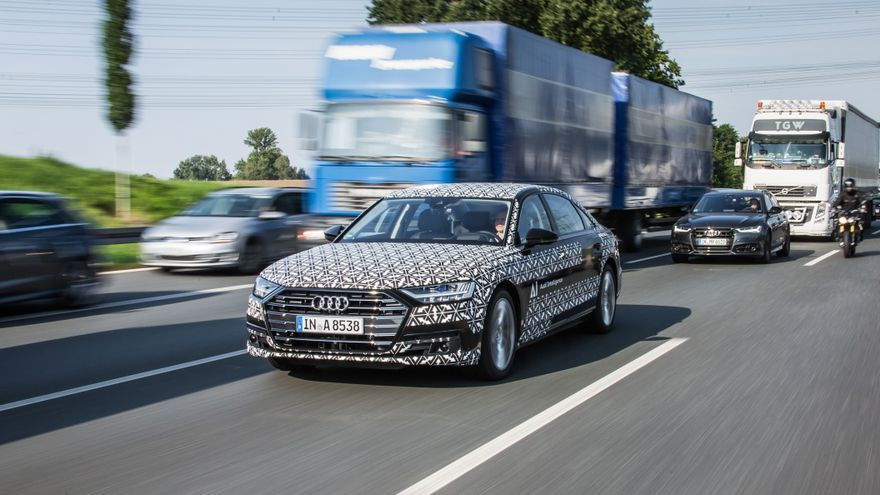 El sistema Traffic Jam Pilot que estrena el nuevo Audi A8.