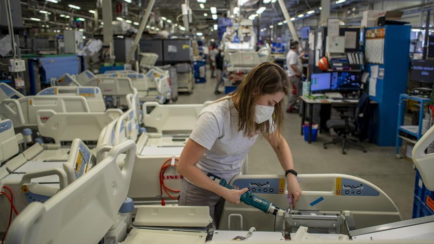 El sector manufacturero español alcanzó en abril su nivel más alto desde 1999