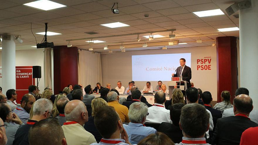 Ximo Puig durante el Comité Nacional del PSPV-PSOE de octubre de 2015.