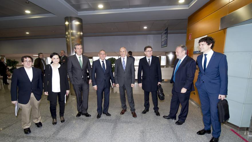 Instantes previos a la reunión del Consejo Vasco de Finanzas