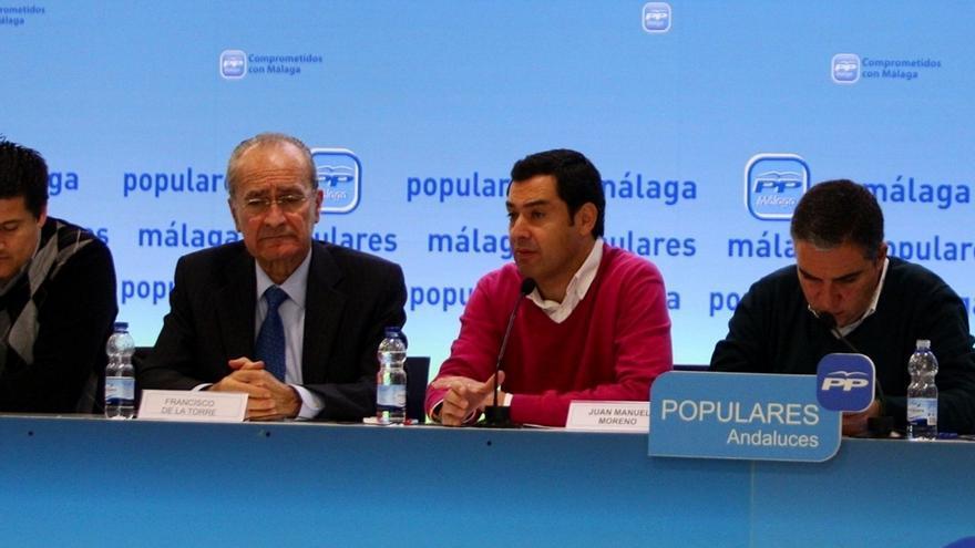 """Moreno (PP-A) dice que el alcalde de Málaga """"reúne los requisitos"""" para encabezar la lista al Congreso y hablará con él"""