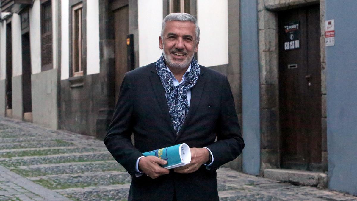 Lluís Serra, ganador de las elecciones al rectorado de la ULPG. (ALEJNDRO RAMOS)