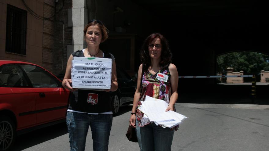 Belén Guitérrez de Izquierda Unida y Matilde Castilla de STE-CLM