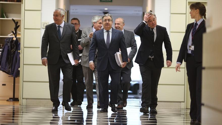 El ministro Zoido tras su última comparecencia en el Senado
