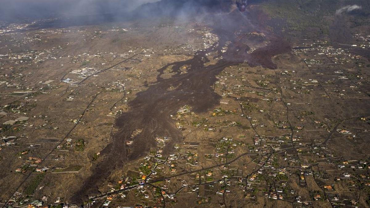 Coladas de lava en La Palma.