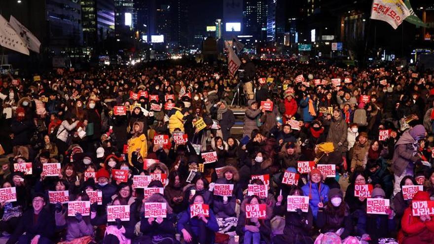 La capital surcoreana se prepara para grandes protestas contra la presidenta