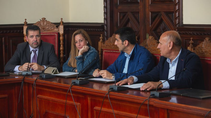 Concejales del PP en el Ayuntamiento de Santa Cruz de La Palma.