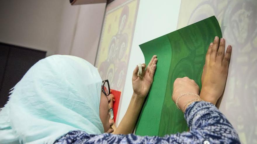 Una estudiante musulmana de Secundaria en una imagen de archivo
