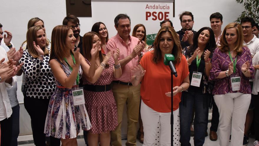 Susana Díaz en la presentación de su candidatura para el PSOE de Andalucía.