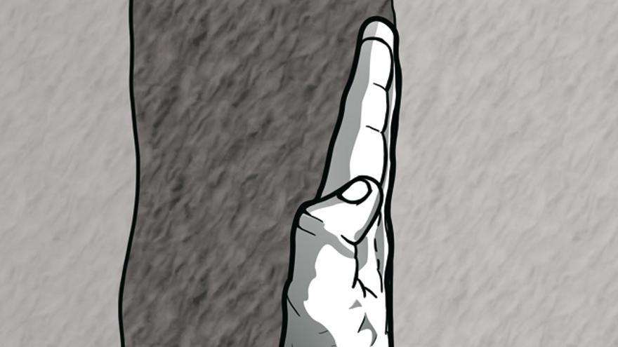Imagen 8. Empotramiento de brazo, mediante la palma de la mano y el codo.