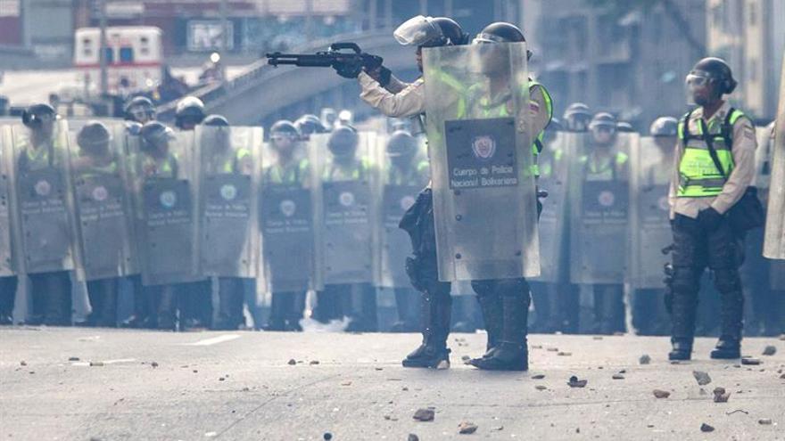 Al menos cuatro detenidos en un foco violento tras la marcha opositora venezolana