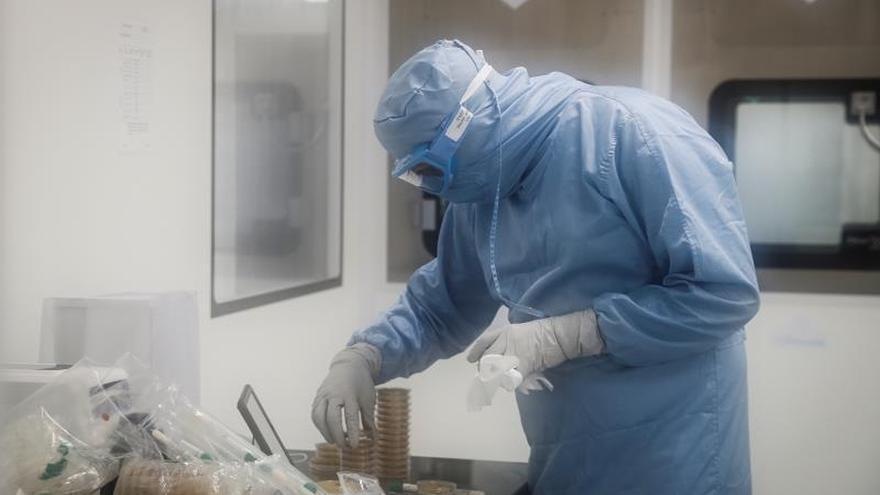 """Un investigador de la empresa donostiarra Viralgen Vector Core, especializada en la producción de vectores virales para terapia génica, que ha sido elegida para fabricar de manera """"masiva"""" una vacuna contra la COVID-19 que están desarrollando el Massachusetts General Brigham Hospital (MGB) y la Universidad de Harvard."""