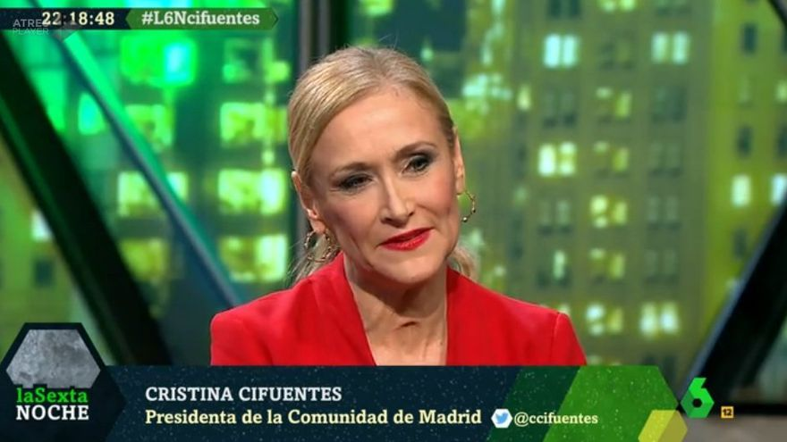 Cristina Cifuentes en La Sexta Noche