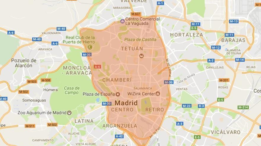 Cierre al tráfico por contaminación en Madrid