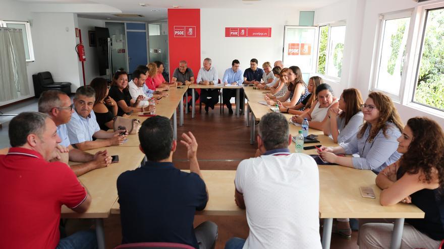 Ejecutiva Insular del PSOE en Gran Canaria, presidida por Sebastián Franquis.