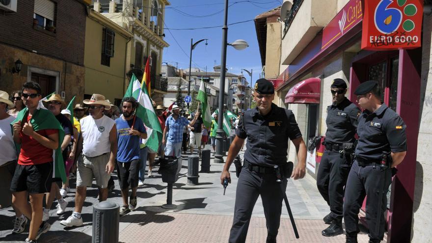 El SAT retoma desde La Zubia su última jornada de marcha obrera por Granada
