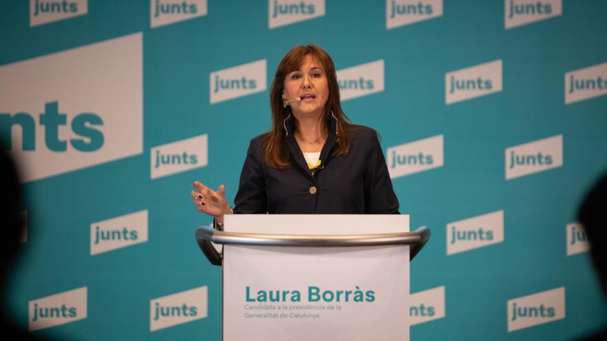 La candidata de JxCat a las elecciones, Laura Borràs