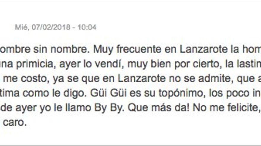 Jaime Cortezo anuncia que ya vendió Guguy