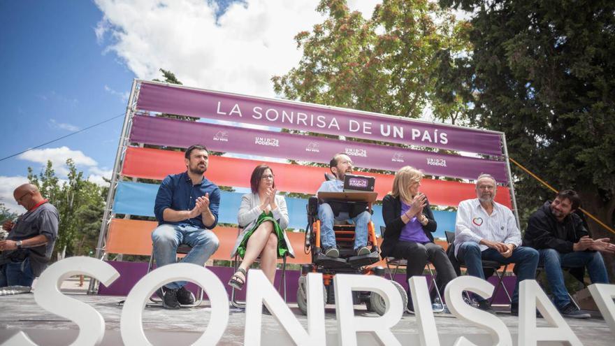 Acto electoral de Unidos Podemos en Zaragoza.