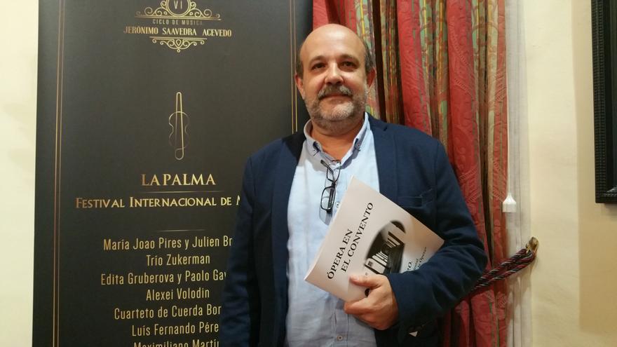 Jorge Perdigón es director artístico de La Palma Festival Internacional de Música. Crédito: LUZ RODRÍGUEZ.