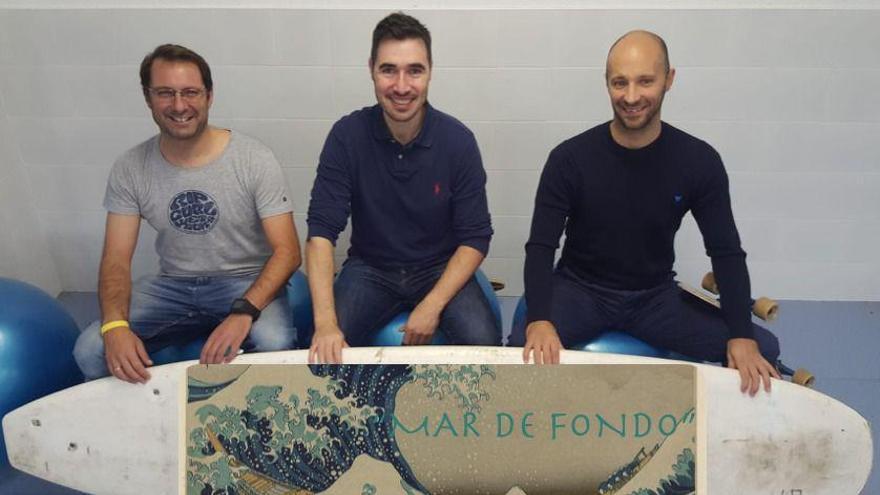 De izquierda a derecha: Pedro Gutiérrez, José Manuel Castanedo y Mikel Pérez.