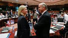La ministra sueca de Finanzas con Luis de Guindos