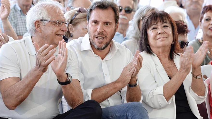 Josep Borrell, durante un acto del PSOE en Valladolid