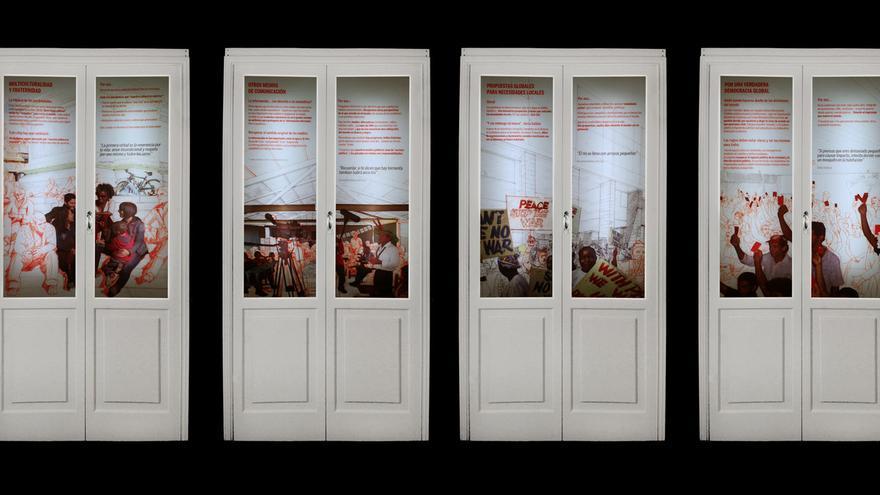 Parte de la exposición 'Puertas. La vida que llevamos; el mundo que queremos' / FOTO: Plataforma 2015 y más