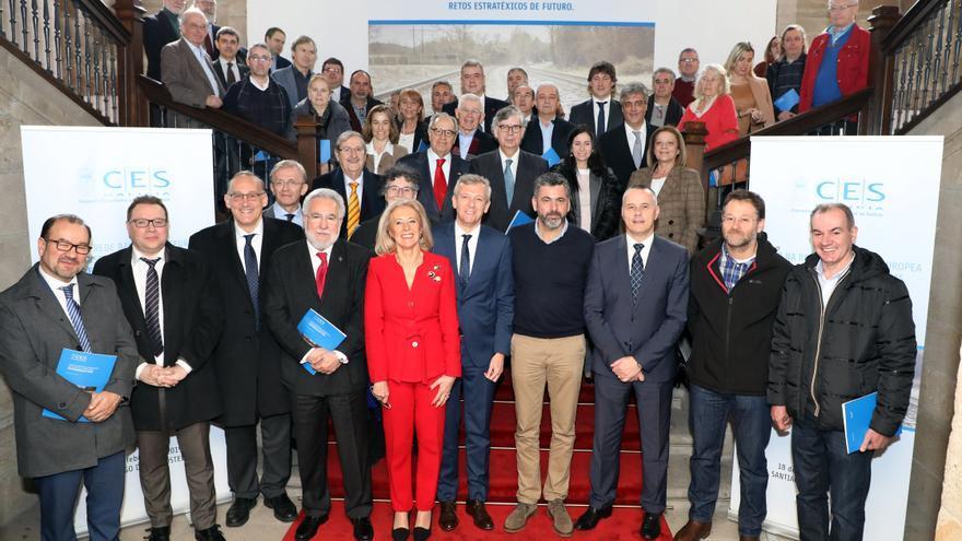 Foto de familia del pleno del Consejo Económico y Social de Galicia reunido el pasado 19 de febrero