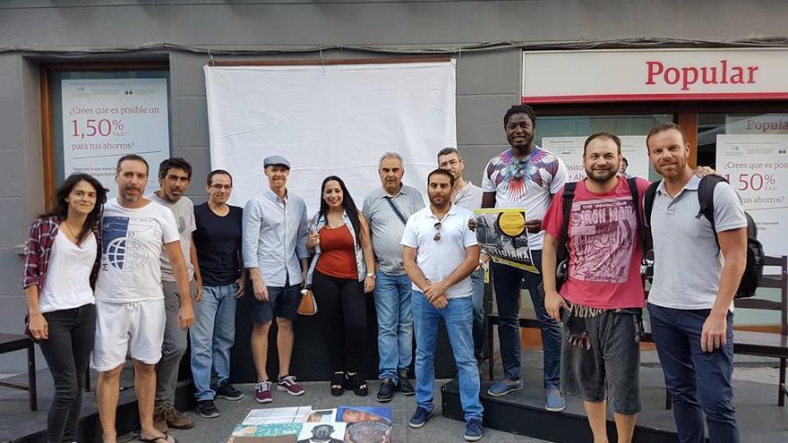 En la imagen, los fotógrafos que participaron en el foto-encuentro.