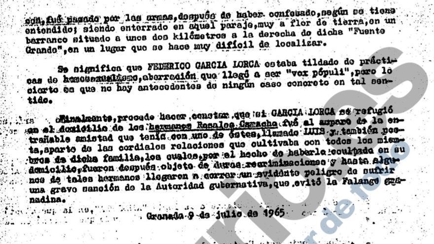 Captura de los documentos inéditos sobre Lorca