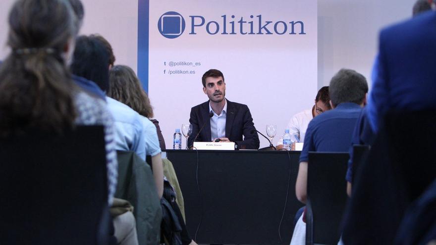 Pablo Simón, durante la presentación del acto sobre la reforma electoral organizado por Politikon.