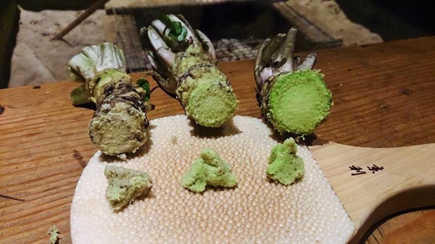 Pasta de wasabi, por lo general servida en los restaurantes de sushi de categoría. Foto: De MIURA, Yuji