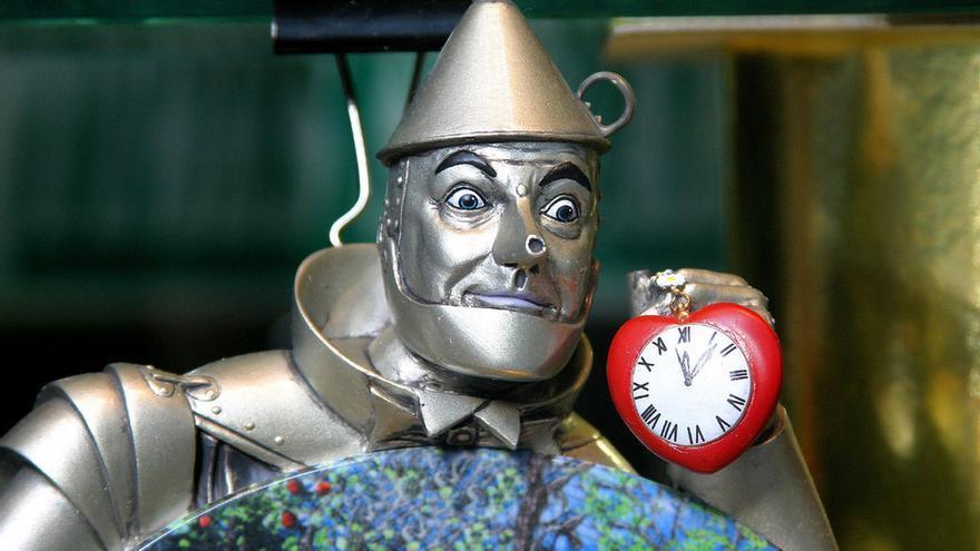 El hombre de hojalata de 'El mago de Oz'