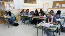 Alumnos de un instituto en Canarias.
