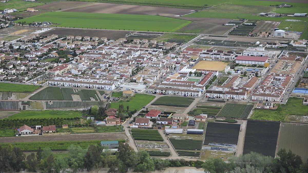 Vista aérea de Encinarejo.