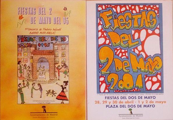 Programas de mano de las fiestas de los años 1995 y 2001 | Foto: Somos Malasaña