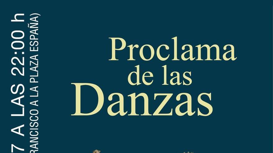 Cartel de la cabalgata barroca 'Proclama de las Danzas'.