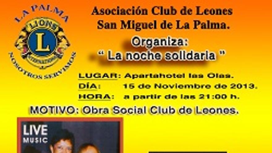 Cartel de la 'Noche Solidaria'.