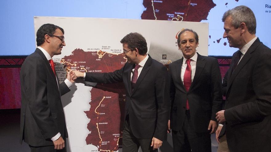 Feijóo, durante la presentación de la Vuelta Ciclista a España 2013