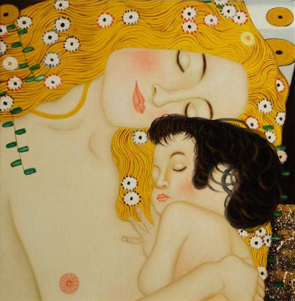 Madre e hija, detalle de Las tres edades de la mujer