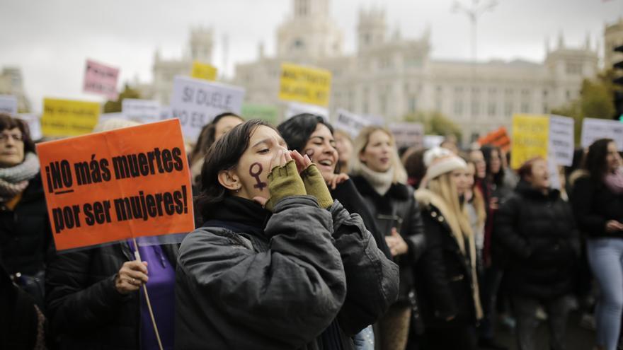La manifestación del 25N, en Cibeles