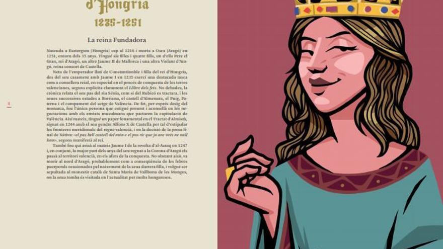 Violant d'Hongria, Ilustración de Lawerta