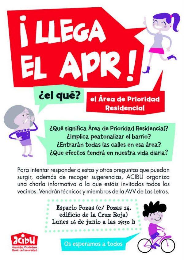 Cartel charla APR Universidad de ACIBU