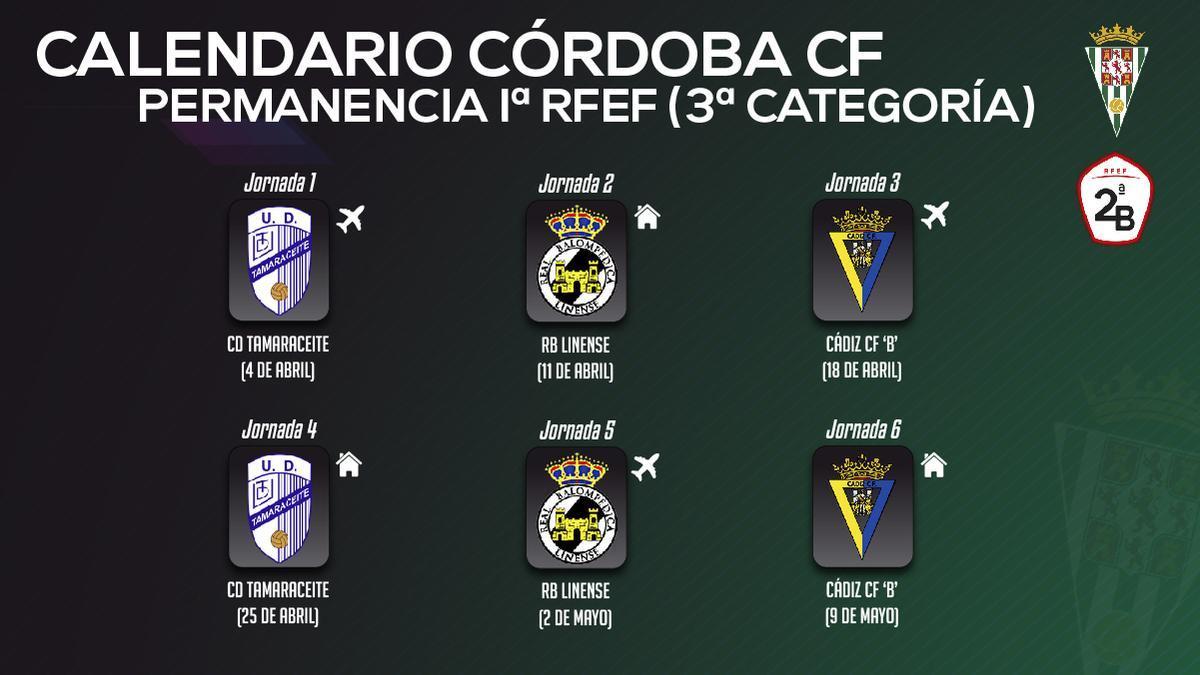Calendario del Córdoba en la fase de Primera RFEF.